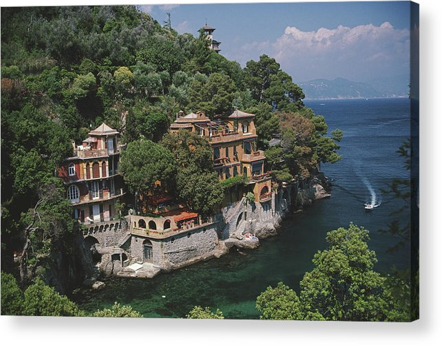 1980-1989 Acrylic Print featuring the photograph Portofino by Slim Aarons