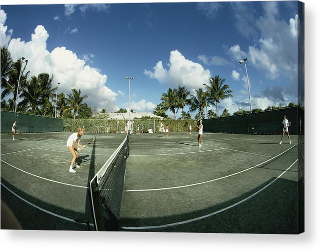 Tennis Acrylic Print featuring the photograph Lyford Cay by Slim Aarons