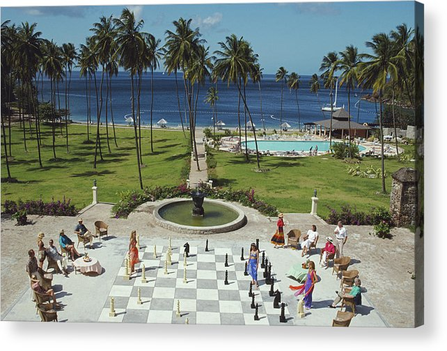 People Acrylic Print featuring the photograph Megachess by Slim Aarons
