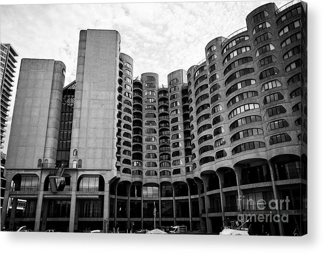 Chicago Acrylic Print featuring the photograph River City Building Chicago Illinois United States Of America by Joe Fox