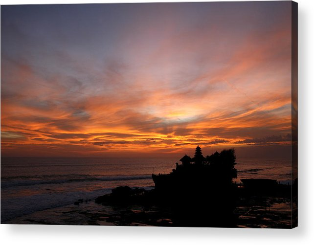 Photo Acrylic Print featuring the photograph Temple At Sunset by Carmo Correia