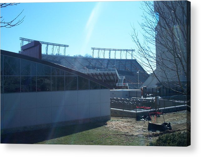 Hokie Acrylic Print featuring the photograph Lane Stadium by Eddie Armstrong