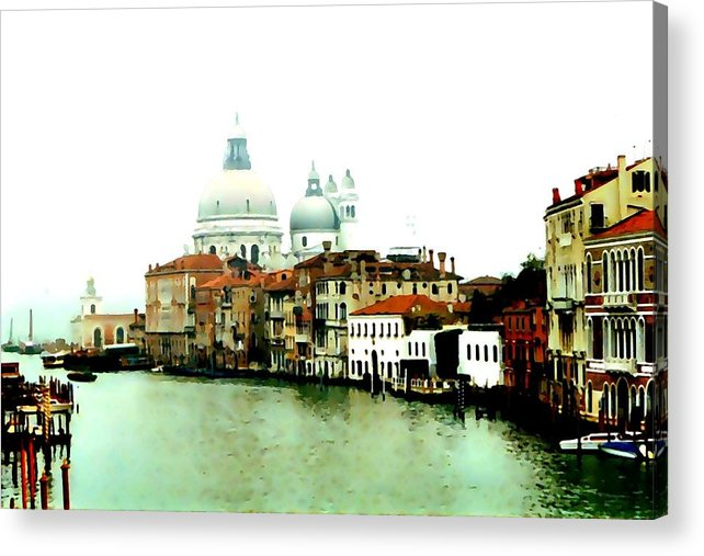 Venice Acrylic Print featuring the digital art Dorsodouro by Derrick Armitage