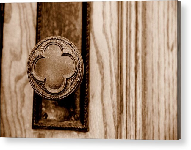 Doorknob Acrylic Print featuring the photograph Antique Doorknob by Caroline Clark