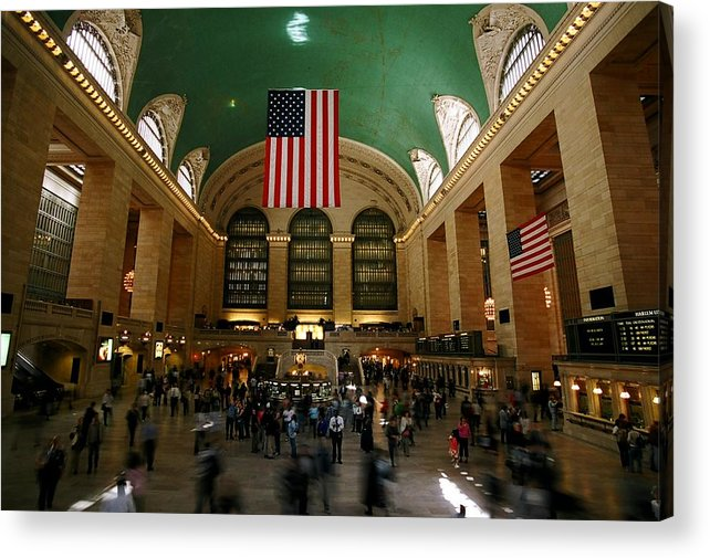 Grand Central Station Acrylic Print featuring the photograph Grand Central Station by Caroline Clark