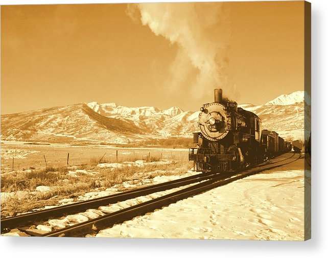 Train Acrylic Print featuring the photograph The Heber Creeper by Caroline Clark