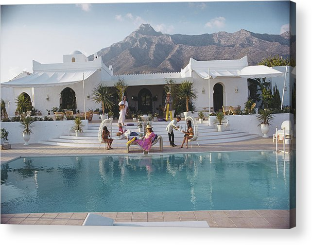 People Acrylic Print featuring the photograph El Venero by Slim Aarons
