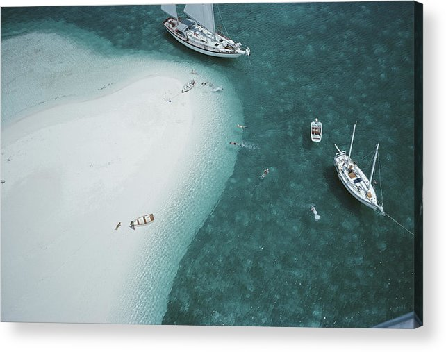 People Acrylic Print featuring the photograph Stocking Island, Bahamas by Slim Aarons