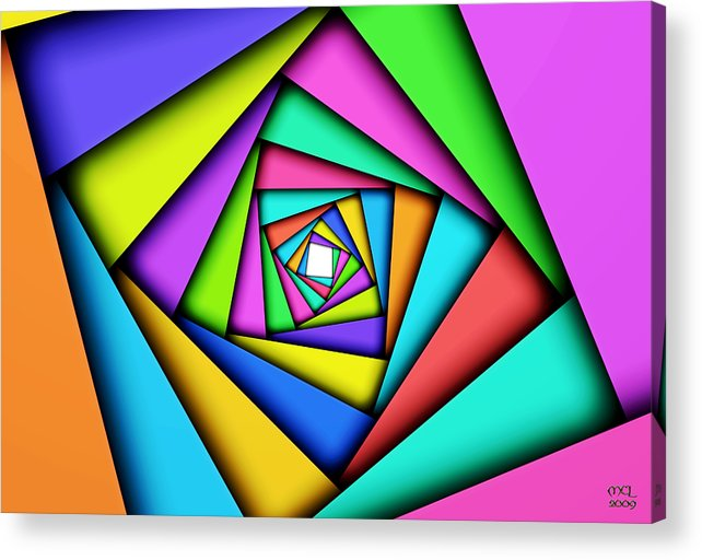 Computer Acrylic Print featuring the digital art Worldview by Manny Lorenzo