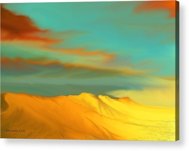 Desert Acrylic Print featuring the digital art Ridge by Kerry Beverly