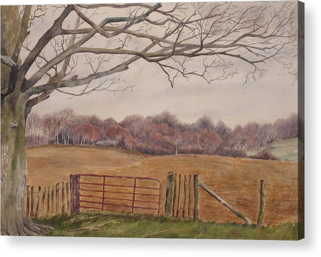 England Acrylic Print featuring the painting Shelter by Debbie Homewood