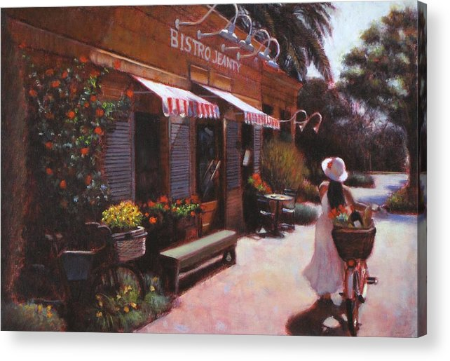 Wine Acrylic Print featuring the painting Shopping Wine In Napa Valley by Takayuki Harada