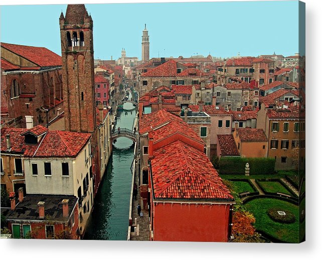 Venice. Italy. Great Cities. Travel Posters. Acrylic Print featuring the photograph Venetian Street Scene by Michael Moore