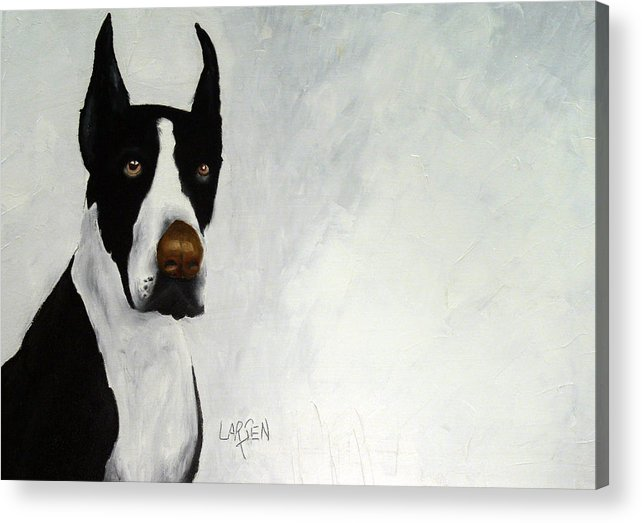 Acrylic Print featuring the painting Great Dane by Dick Larsen