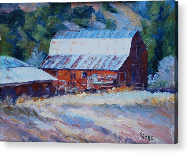 Barn Acrylic Print featuring the painting Cedar Hill Barn by Gary Gore