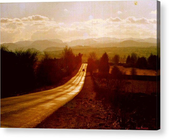 English Landscape Acrylic Print featuring the photograph The Long And Lonely Road....... by Rusty Gladdish