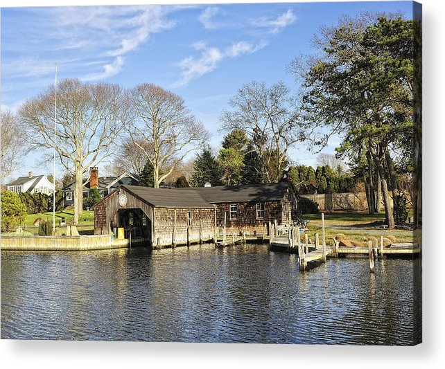 Water Acrylic Print featuring the photograph The Boat House by Tim Doubrava