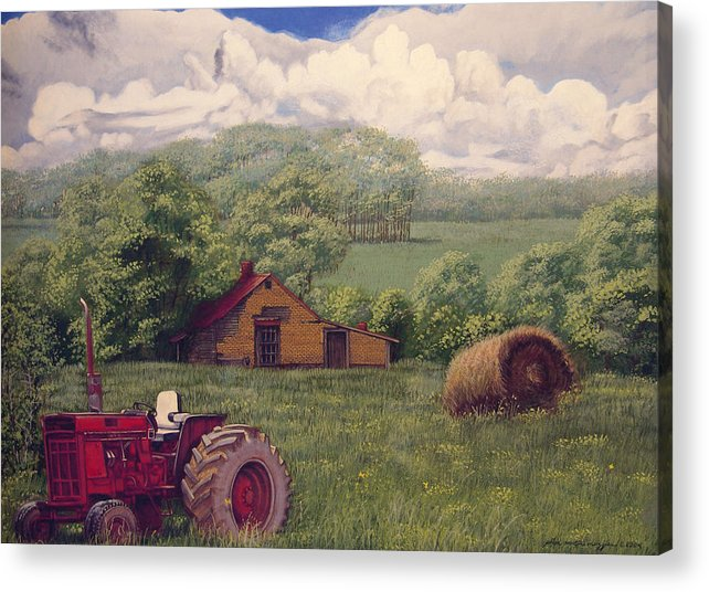 Landscape Acrylic Print featuring the painting Idle In Godfrey Georgia by Peter Muzyka