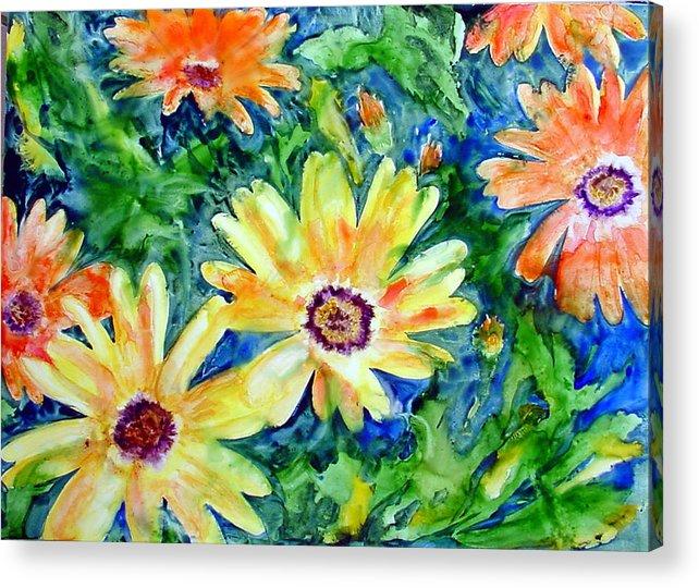 Flower Acrylic Print featuring the painting Daisy May by Marsha Elliott