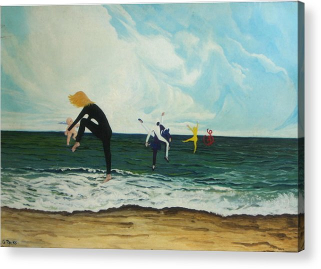 Surreal Acrylic Print featuring the painting The Dancers by Georgette Backs