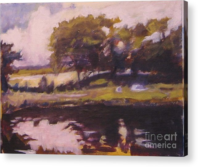 Landscape Irish Acrylic Print featuring the painting Mayo Landscape by Kevin McKrell