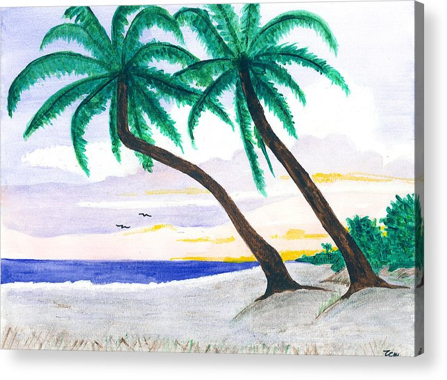 Acrylic Print featuring the painting Beautiful Beaches Of Sw Florida by Sea Sons Home and Life