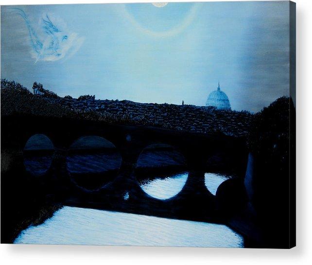 Fredrico Filini. Rome. Italy. Acrylic Print featuring the painting Felini S Rome by Ivan Rijhoff