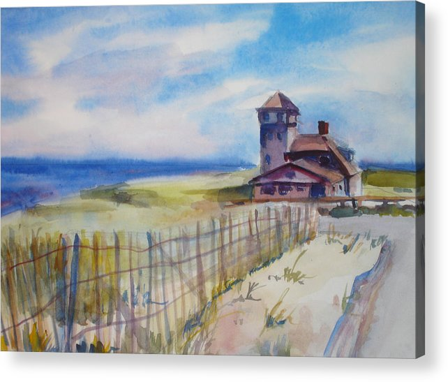 Provincetown Acrylic Print featuring the painting Provincetown Ocean View by Joyce Kanyuk