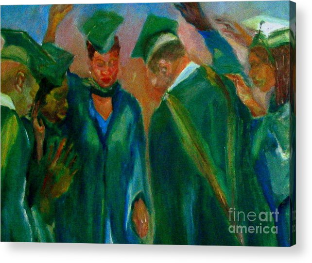Figures Acrylic Print featuring the painting The Graduates by Patrick Mills