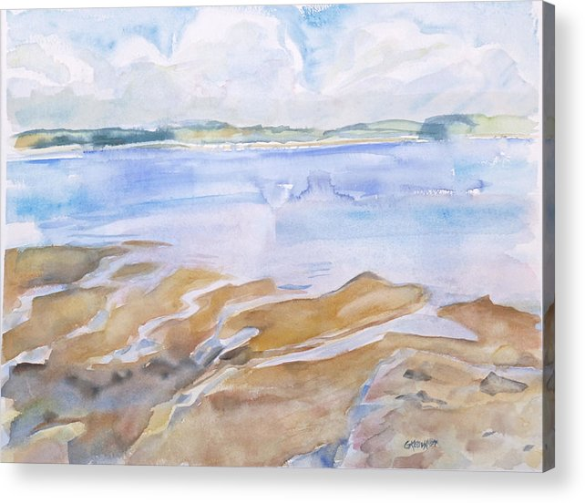 Penobscot Bay Acrylic Print featuring the painting Low Tide - Penobscot Bay by Grace Keown