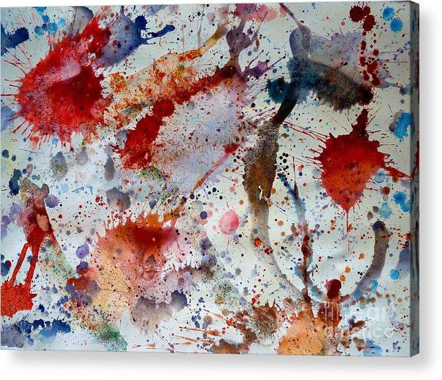 Acrylic Print featuring the mixed media Splash by Bill Davis