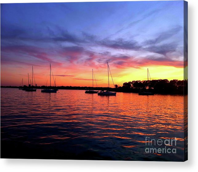 Sailboats Acrylic Print featuring the photograph Big Lights Will Inspire You by Christine Segalas
