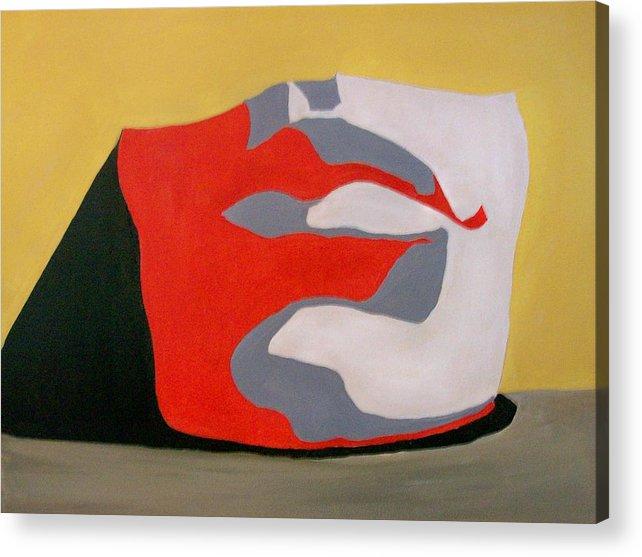 David Acrylic Print featuring the painting Davids Chin by Leo Gordon