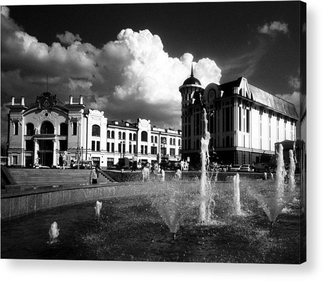 Cityscape Acrylic Print featuring the photograph Downtown Tomsk by Susan Chandler