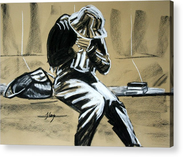 Figure Acrylic Print featuring the painting Just Sitting by John Cox