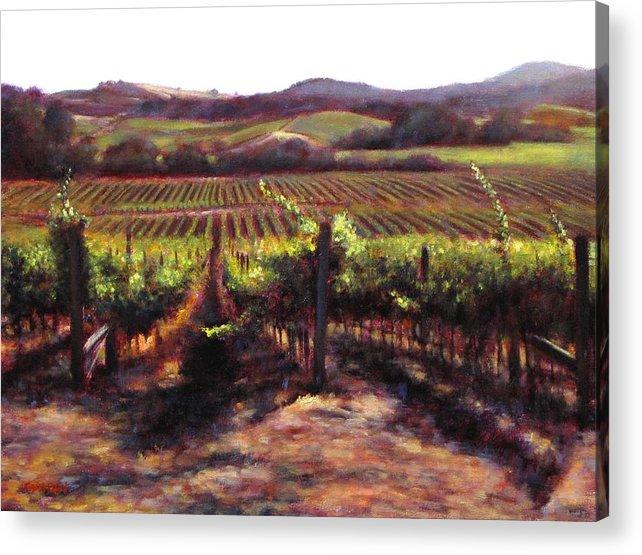 Wine Painting Acrylic Print featuring the painting Napa Carneros Summer Light by Takayuki Harada
