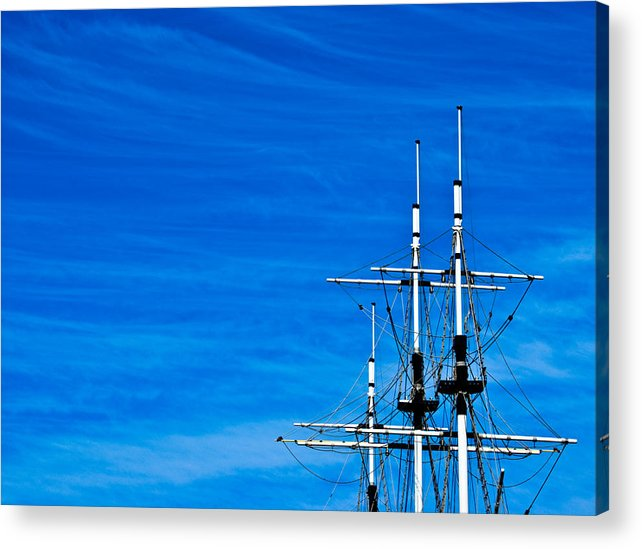 The Sky Acrylic Print featuring the photograph The Sky The Sea by Vadim Grabbe