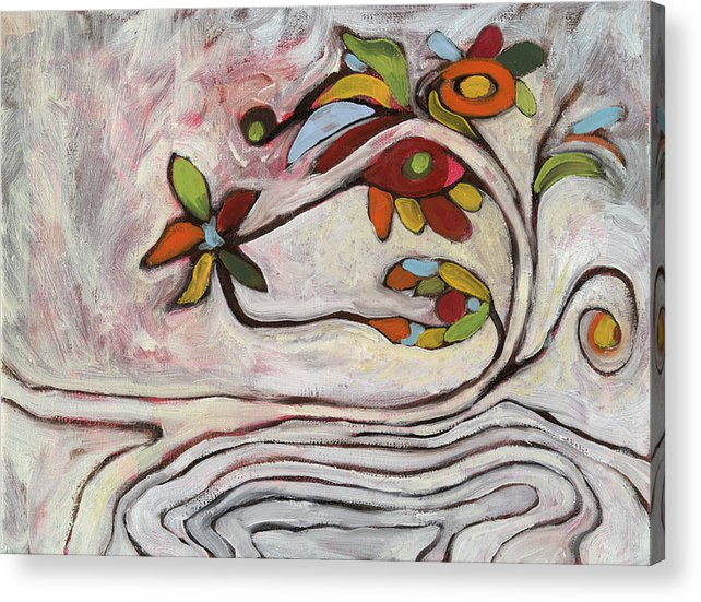 Abstract Acrylic Print featuring the painting Weeds1 by Michelle Spiziri