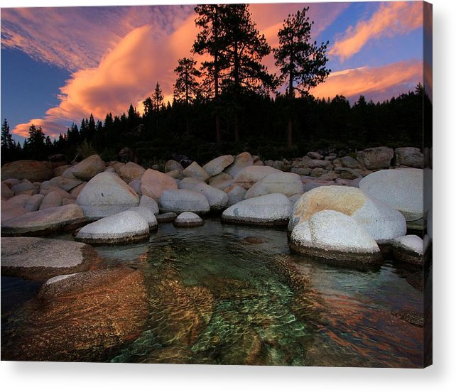Lake Tahoe Acrylic Print featuring the photograph Welcoming Waters by Sean Sarsfield