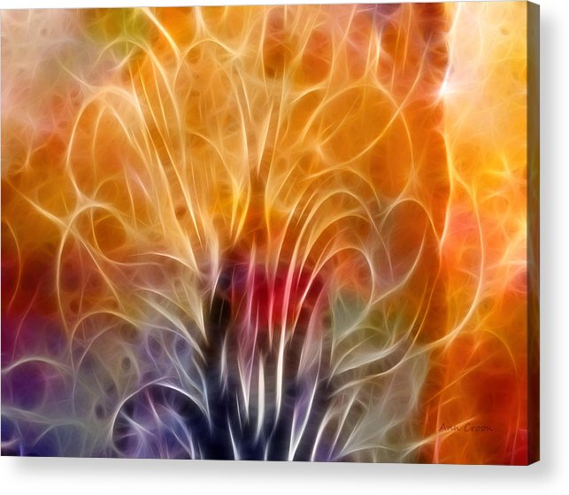 Abstract Acrylic Print featuring the digital art Tree Of Life by Ann Croon