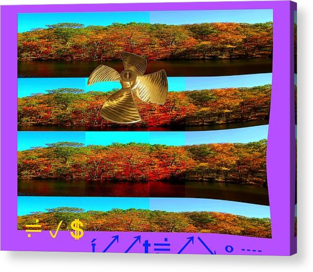 Digital Stuff Acrylic Print featuring the photograph Foot Long Distort by Lee Plate