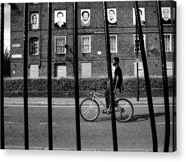 Inner City London Scene Acrylic Print featuring the photograph I Am Ere... by Urban Shooters