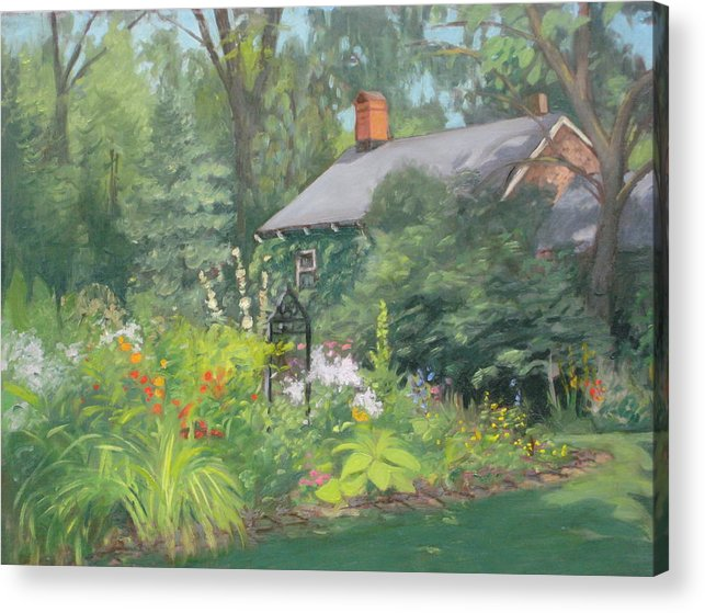 Garden Acrylic Print featuring the painting Willowwood Garden by Tim Maher