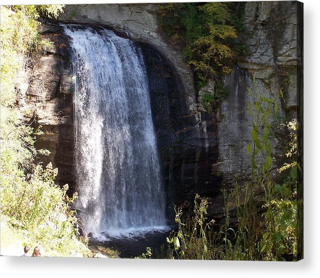 Waterfall Acrylic Print featuring the photograph Looking Glass Falls by Audrie Sumner