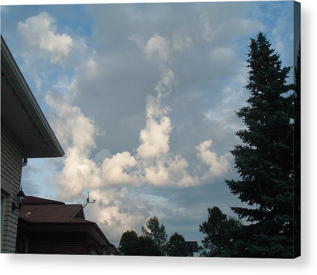 Clouds Acrylic Print featuring the photograph Atmospheric Barcode 19 7 2008 20 by Donald Burroughs