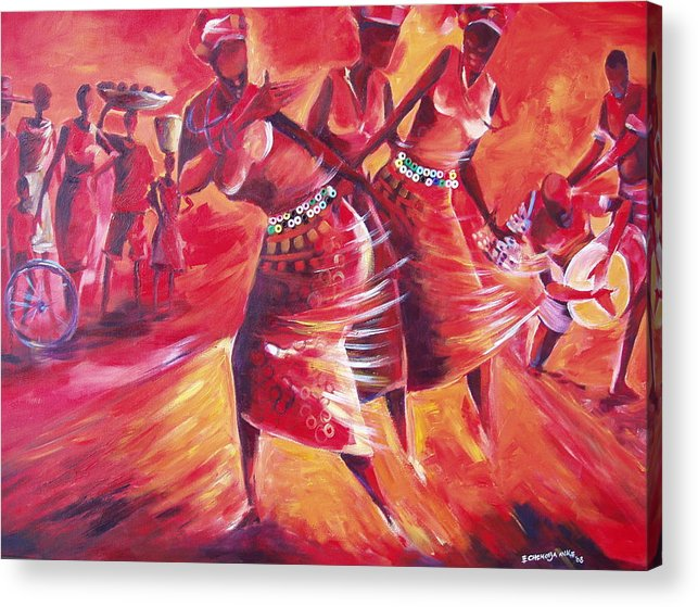 Celebration Acrylic Print featuring the painting Celeration by Michael Echekoba