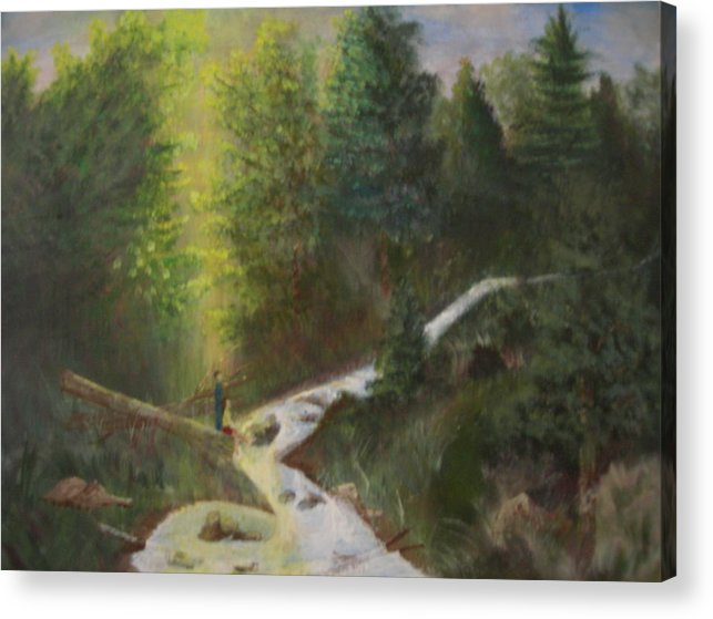 Landscape Acrylic Print featuring the painting My Favorite Spot by Jack Hampton