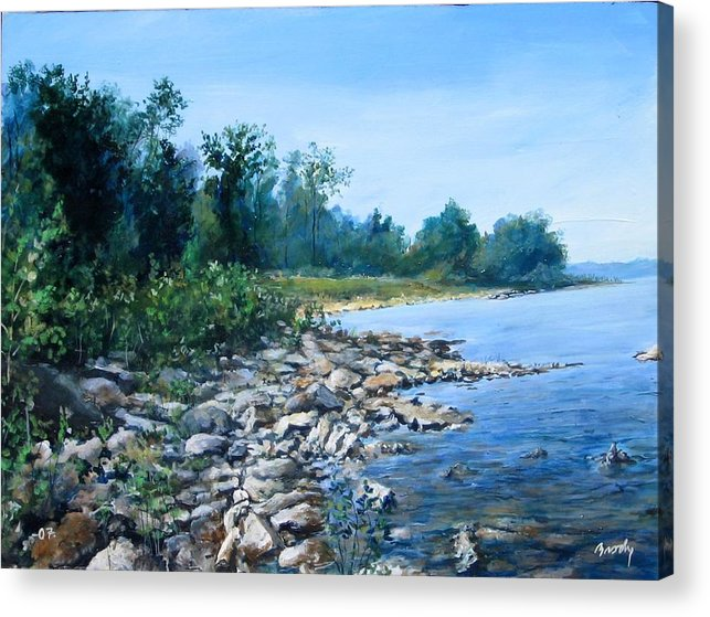 Seascape Acrylic Print featuring the painting Shoreline by William Brody