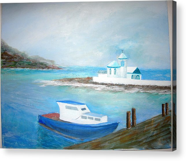 Seascape Acrylic Print featuring the painting Spirit Of The Sea by Jack Hampton