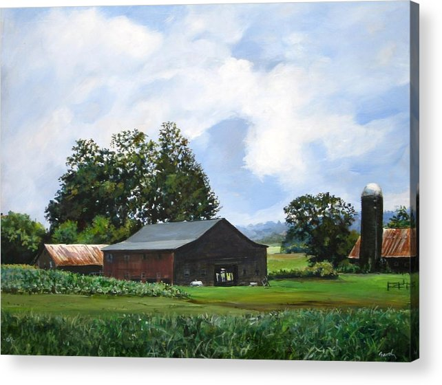 Farm Acrylic Print featuring the painting Tennessee Sky by William Brody